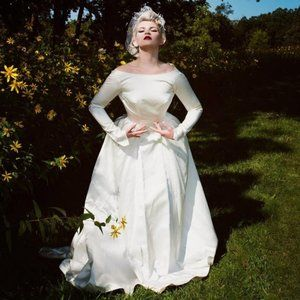 Vintage 50s New Look Style Classic Wedding Gown